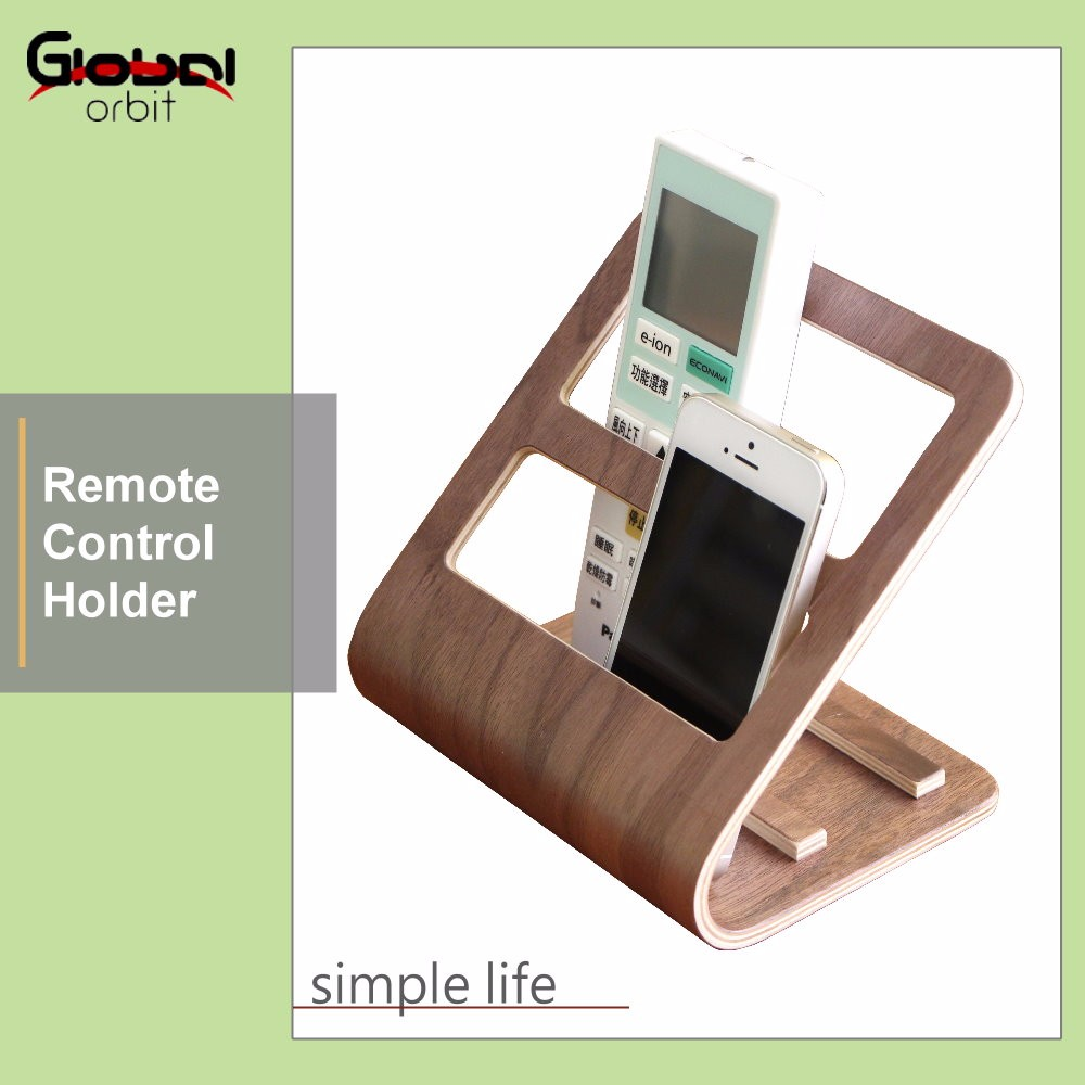 Wooden Tv Remote Control Caddy Organizer Mobile Phone