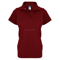 2015 latest fashion ladys short sleeve maroon color quick cool dry 100 polyester women polo shirts design