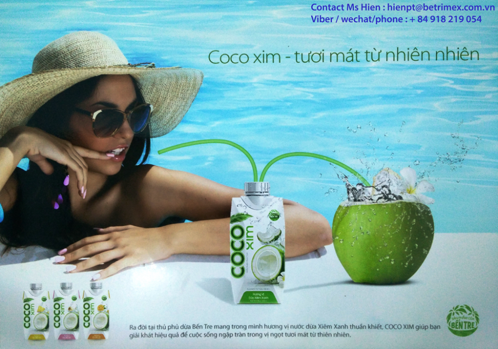 PURE COCONUT WATER 100%, ORGANIC AND HIGH QUALITY !