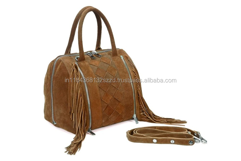 Ladies suede leather Hand Bag