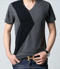 v neck t shirts - high quality cotton jersey tee shirt rounded bottom deep v neck men extended tall t shirt