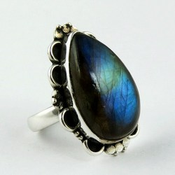 Frost Breeze !! Blue Fire Labradorite 925 Sterling Silver Ring, 925 Silver Ring For Beautiful Fingers, All Over World Shipping