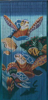 Bamboo Beaded Curtain Sea Turtle Wall Door Room Patio Hanging