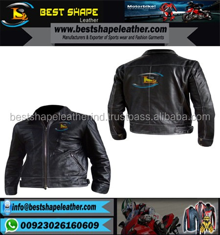men black Fashion leather jacket with sheep skin Customized Leather Jackets