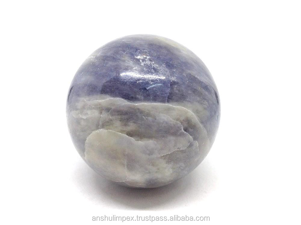 Wholesale natural Iolite spheres, crystal balls, natural rock polished gemestone spheres, wholesale lot.