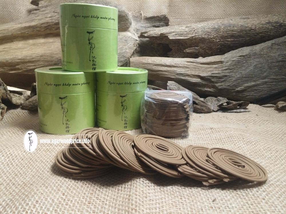 Absolutely beautiful scent for Vietnam agarwood - Type oud incense coil, fresh products for your car or home
