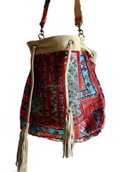 Beautiful Handmade Bohemian Banjara cross Body Bag/Vintage Indian Hippie Beg with Leather Strap Wholesale