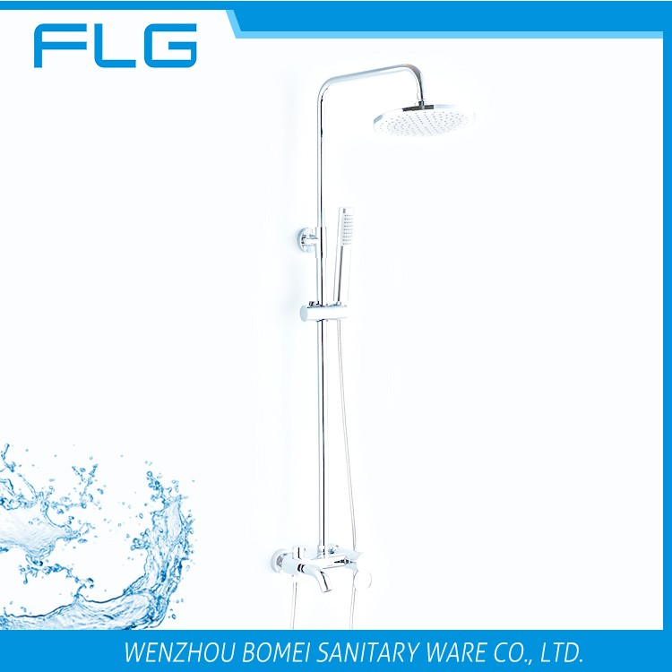 Wholesale High Quality Product FLG2738S Lead Free Chrome Finished Cold&Hot Water Shower Faucet Set Bath Shower Set