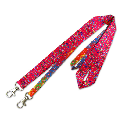 Imitation Leather Lanyard with Rhinestones