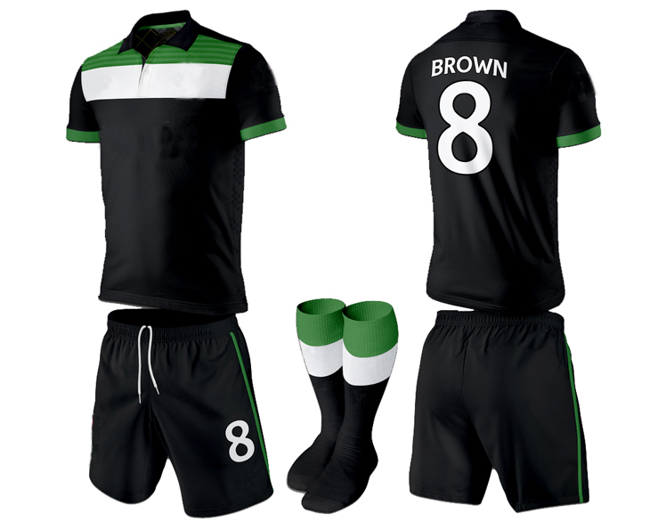 customized soccer kit / high quality soccer set / sublimation soccer set