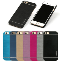 "Classic Aluminum Brushed Metal Slim Hard Cover Case for iPhone 6 & 6s 4.76s 4.7"" with Rubberized Interior Wholesale Los Angeles"