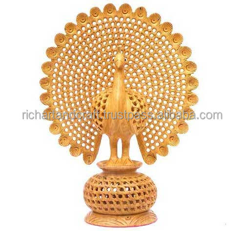 Peacock Statue India Rich Arts And Crafts Handmade Handicraft Statue Murti Artisan India Carving Bird Sculpture