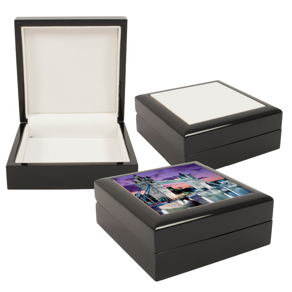 Personalized 6x8 gift jewellery box with customized ceramic tile personalized 6x8 gift jewellery box with customized ceramic tile dailygadgetfo Images