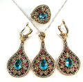 925 sterling silver set kosem sultan roxelana harem hurrem ruby emerald color hatice sultan turkish tv film series ottoman