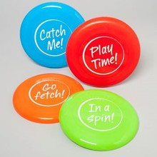 DOG TOY FLYING DISC 9 INCH DIA. 4 ASSORTED IN PDQ #66929P