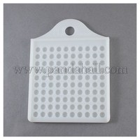 Plastic Bead Counter Boards, Makes Counting 3mm/4mm Beads or Other Small Items a Breeze, White, 102x78mm, Hole: 10mm PT-R001-10