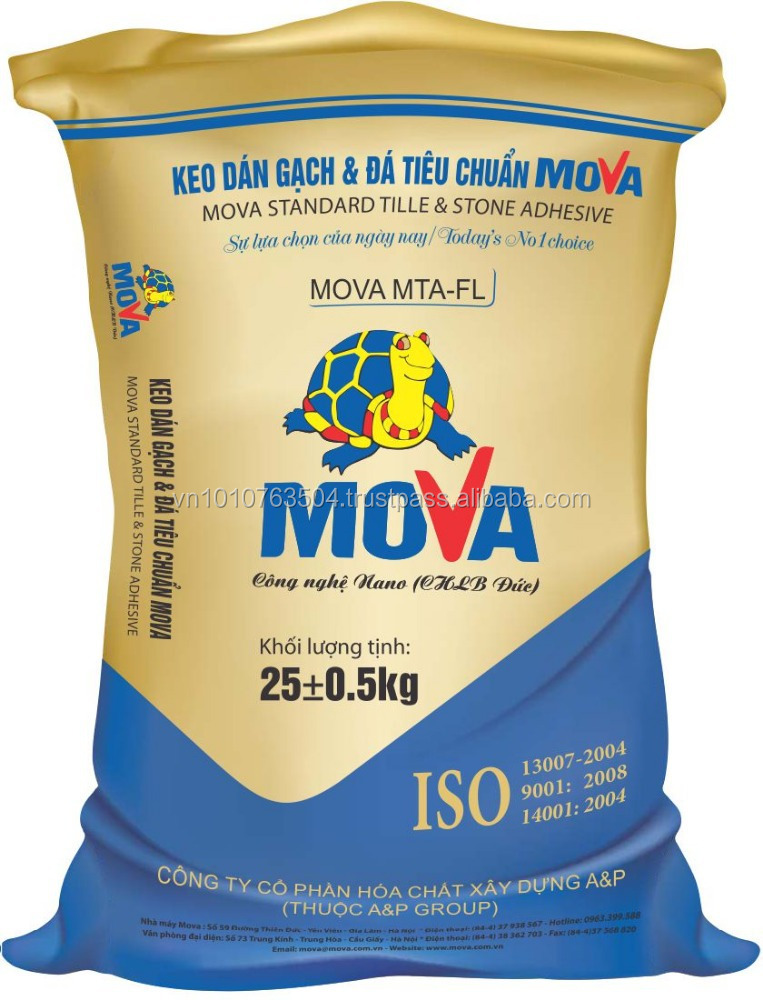 Mova MTA-FL / Tile Adhesive /(Flexible Tile adhesive for ceramic coating marble and stone adhesive) Made In Vietnam