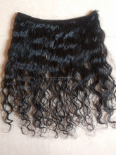 Silky Straight Washed Curly/ Wave Sewing Machine Made Human Hair Weft Weave Weaving Fast Shipping