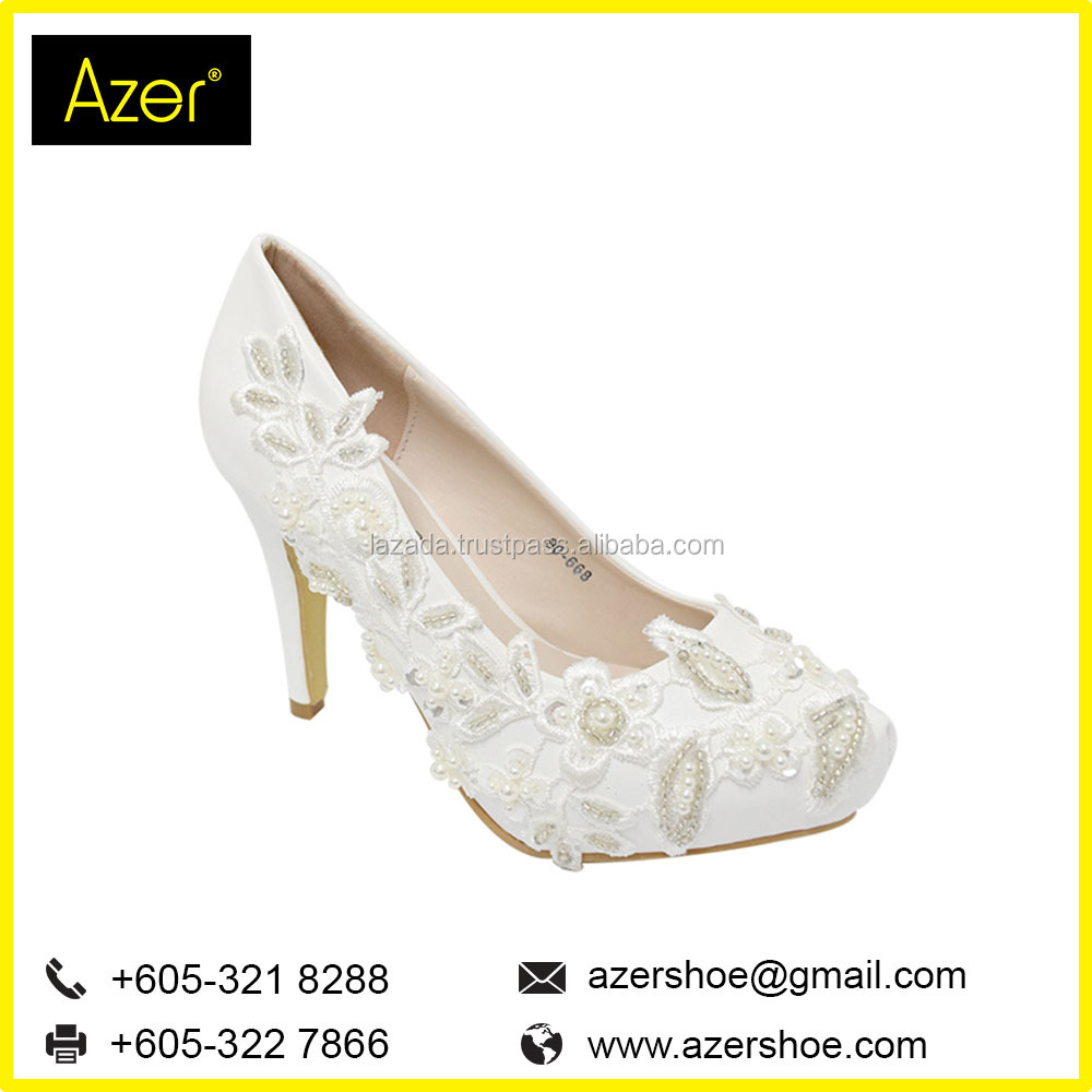 GORGEOUS BRIDAL HIGH HEELS ONLINE SALE (90-668 W) WHITE