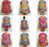 HIPPIE BOHO summer handmade tie dye festival chic tunic tee shirt blouse mix colors