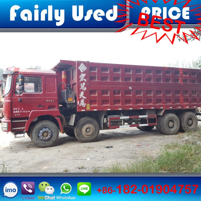 Fairly used Left hand drive 8x4 380hp Manual Shacman tipper truck of Shacman F3000 for sale