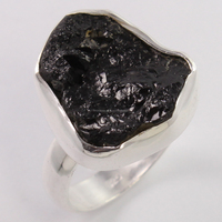 Online Sale !! Black_Tourmaline 925 Sterling Silver Fancy Shape Ring, Jewelry For All Occassions, 925 Rough Stone Rings