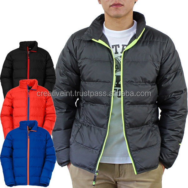 high quality slim fit custom down fashion feather jacket for the winter,wholesale down jacket