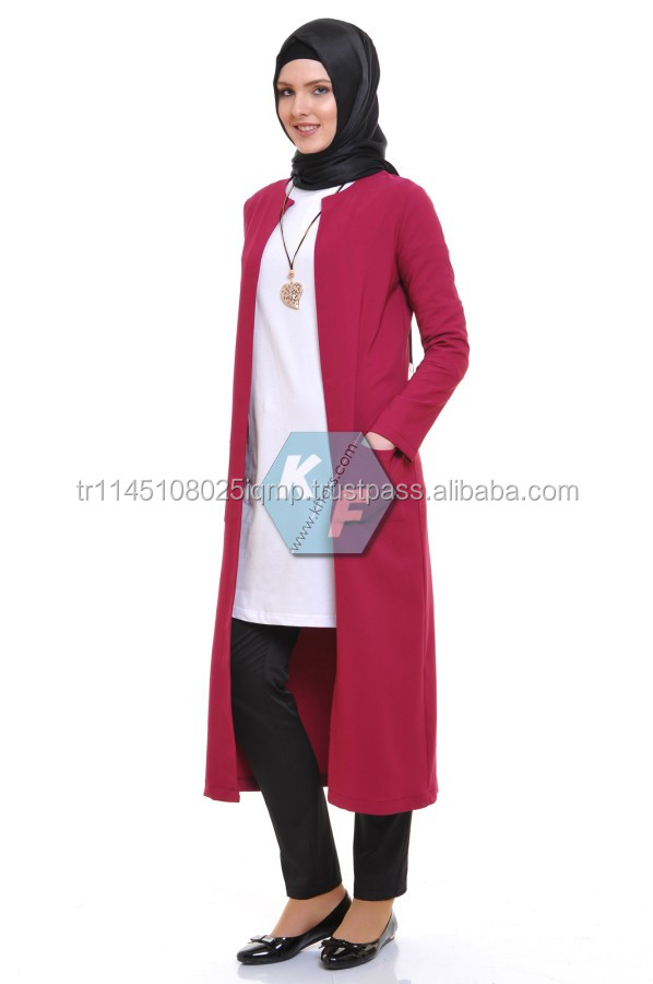 2016 High quality muslim long sleeve maxi dress jacket abayas for sale women