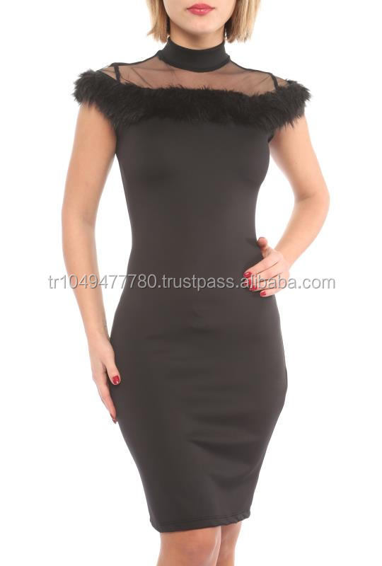 short sleeve new arrival black evening and party dresses