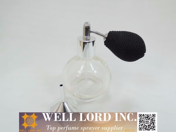 Classical refill fragrance easy use tool silver small metal funnel