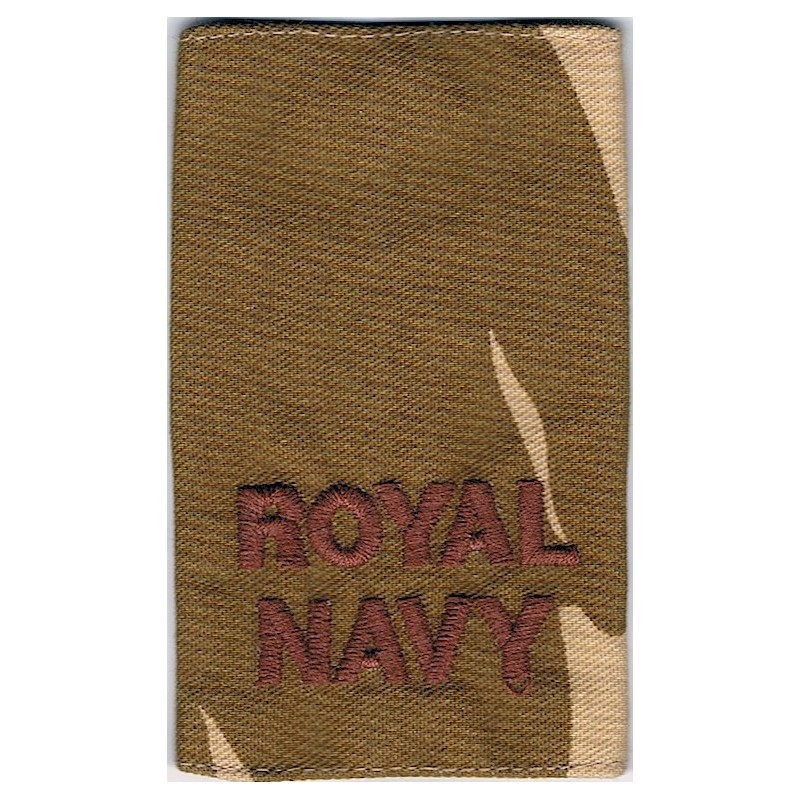 Royal Navy - Brown On Desert Camouflage Slip-On Epaulette Embroidered Naval Branch, rank or miscellaneous insignia