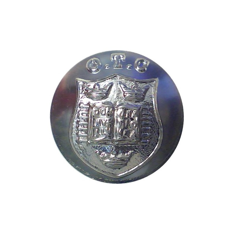 Oxford University Officers Training Corps 19mm Silver Colour Anodised Aluminium Staybrite military uniform button