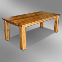 Solid Wood Rectangular Dining Table in Teak