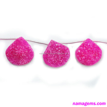 Pink Druzy Gemstone Semi Precious Loose Beads Agate Gemstone Semi Druzy Beads