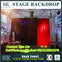 Portable pipe and drape wedding backdrop backdrop for stages