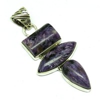 Lovely !! Charoite Purple 925 Sterling Silver Wholesale Pendant, Sterling Silver Jewelry, Wholesale Silver Jewelry