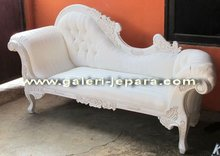 Mahogany Furniture - Chaise Lounge Sofa - Furniture White Painted
