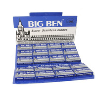 Big Ben Super Stainless Double Edge Razor Blades by Lord blue 10 packs of 40