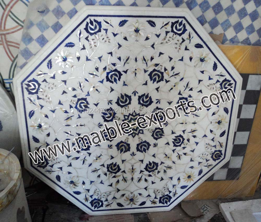 Indian Marble Octagonal Table Top