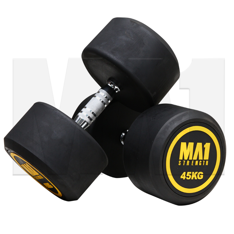 MA1 Commercial Rubber Round Head Dumbbell 2.5kg to 50kg