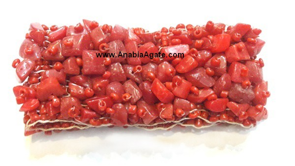 Red Jasper Angels Agate Energy Generator With Crystal Quartz Pyramid