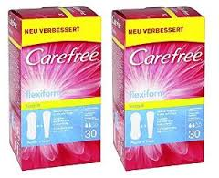 J&J Carefree Flexi Form 58 Panty Liner