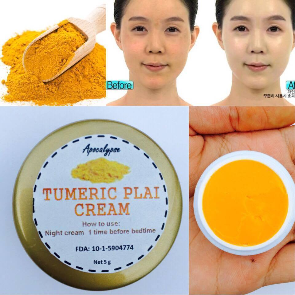 Turmeric Plai Whitening Cream Nourishing Face Skin Dark Spot Night Cream
