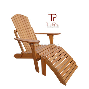 ADIRONDACK Chair With Footrest - FSC Eucalyptus - Outdoor Furniture