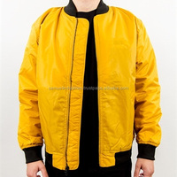 Yellow Long Bomber Jacket For Tall