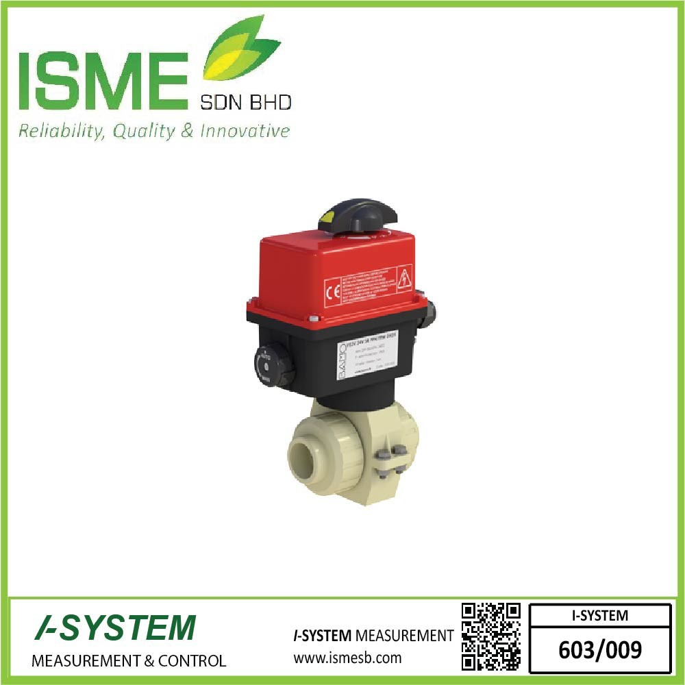 VE2V S4-PPH, Electrically actuated 2-way ball valves