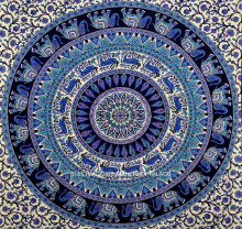 Indian Ombre Mandala Throw Tapestry Large Wall Hanging Boho Tapestries