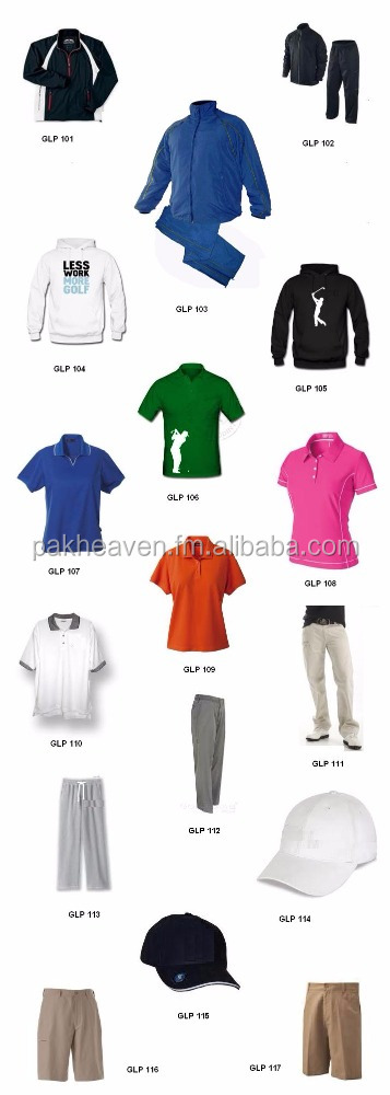 golf wear t shirt polo shorts pants