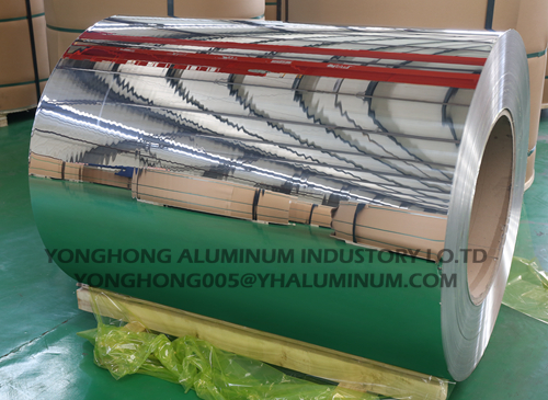 1050,3003 silver polished aluminum mirror coil/strip for decoration, celling, light