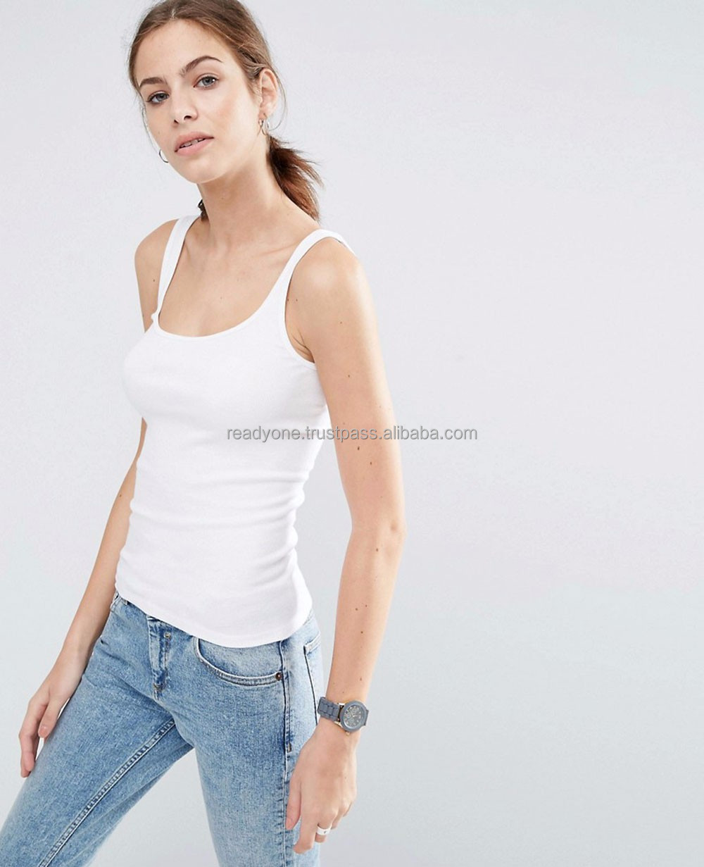 Oem High Quality 100 Cotton Sleeveless Tank Top Women Multicolor Plain Soft Leisure Crop Top
